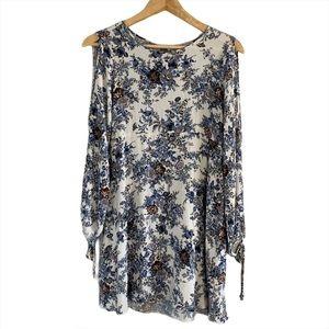 American Eagle floral cold shoulder dress